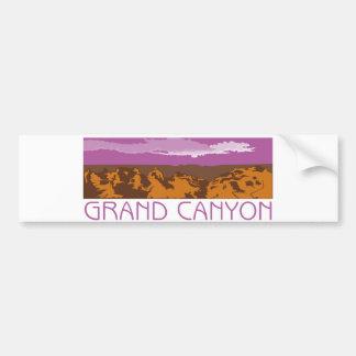 Bandera del Gran Cañón Pegatina De Parachoque