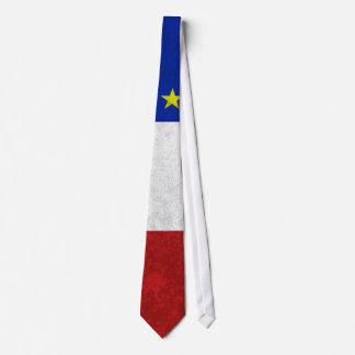 Bandera del Grunge apenado Acadia Corbata