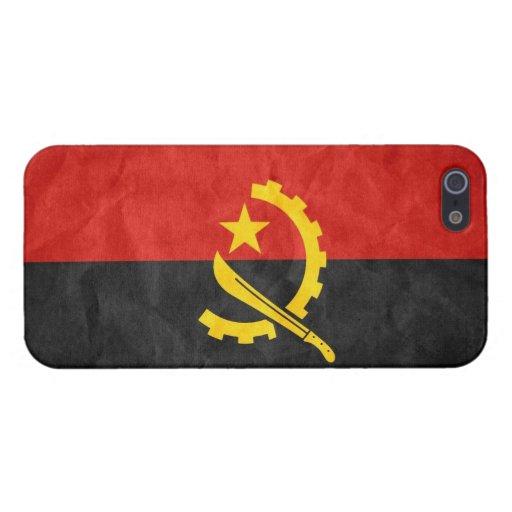 Bandera del Grunge de Angola: iPhone 5 Protector