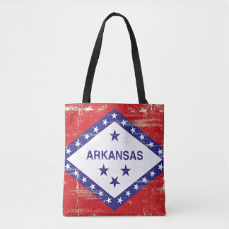 Bandera del grunge de Arkansas Bolsa De Tela