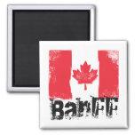 Bandera del Grunge de Banff Imán Para Frigorífico