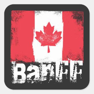 Bandera del Grunge de Banff Pegatina Cuadrada