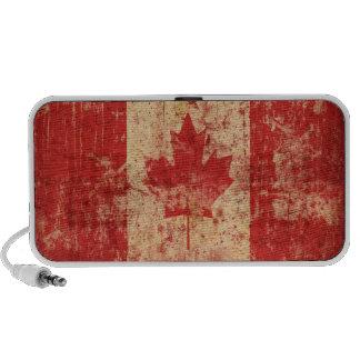 Bandera del Grunge de Canadá Altavoz De Viaje