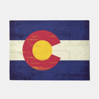 Bandera del Grunge de Colorado Felpudo