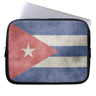 Bandera del Grunge de Cuba Fundas Ordendadores