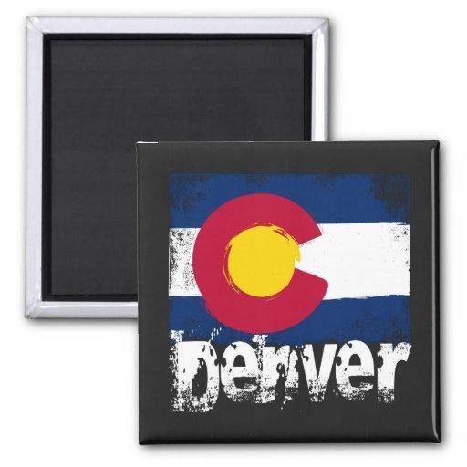 Bandera del Grunge de Denver Iman De Nevera