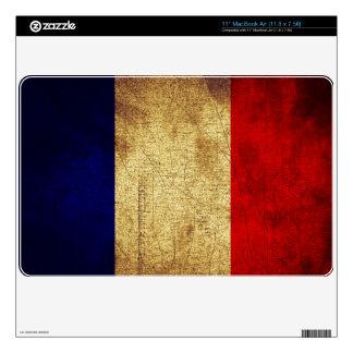 Bandera del Grunge de Francia Calcomanías Para MacBook Air