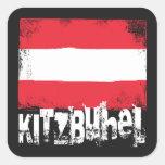 Bandera del Grunge de Kitzbühel Pegatina Cuadrada