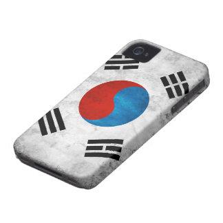 Bandera del Grunge de la Corea del Sur Case-Mate iPhone 4 Carcasas