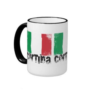 Bandera del Grunge de la cortina Tazas De Café