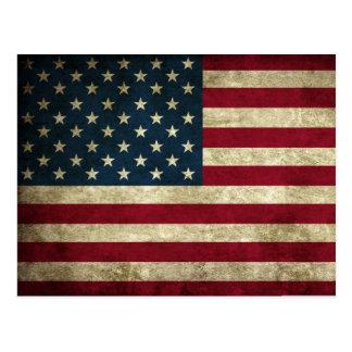 Bandera del Grunge de los E.E.U.U. Postales