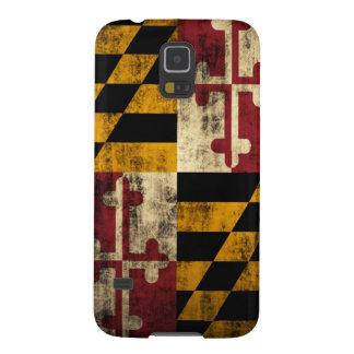 Bandera del Grunge de Maryland Carcasas De Galaxy S5
