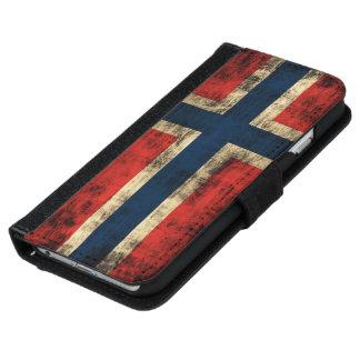 Bandera del Grunge de Noruega Carcasa De iPhone 6