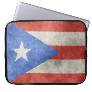 Bandera del Grunge de Puerto Rico Mangas Portátiles
