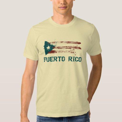 Bandera del Grunge de Puerto Rico Playera