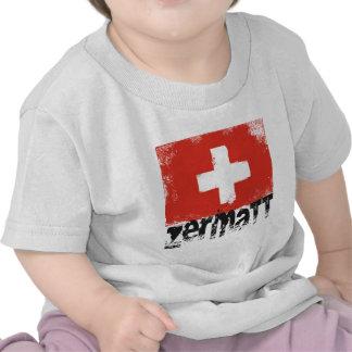 Bandera del Grunge de Zermatt Camisetas