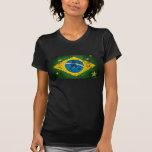 Bandera del Grunge del Brasil para los brasilen@os Camisetas