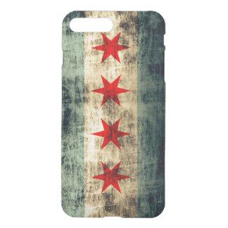 Bandera del Grunge del vintage de Chicago Fundas Para iPhone 7 Plus