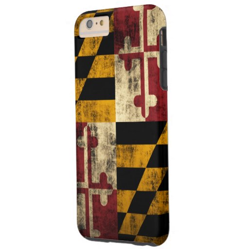 Bandera del Grunge del vintage de Maryland Funda De iPhone 6 Plus Tough