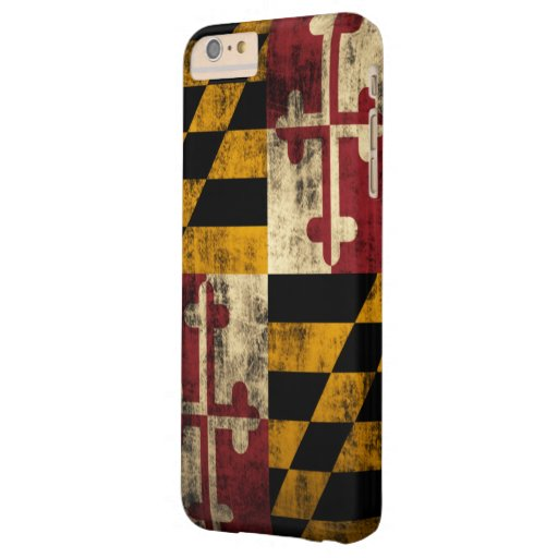 Bandera del Grunge del vintage de Maryland Funda De iPhone 6 Plus Barely There