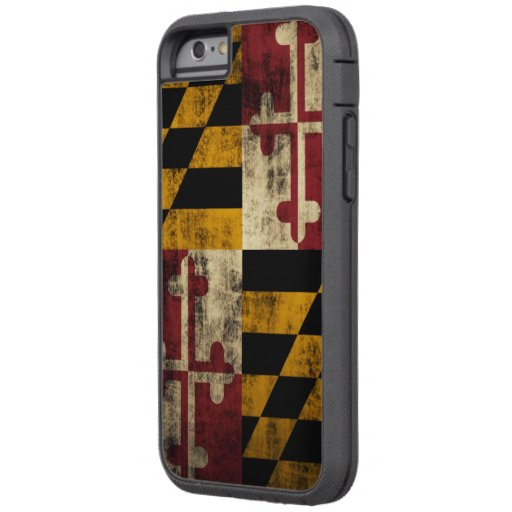 Bandera del Grunge del vintage de Maryland Funda De iPhone 6 Tough Xtreme