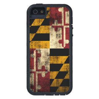 Bandera del Grunge del vintage de Maryland Funda Para iPhone 5 Tough Xtreme