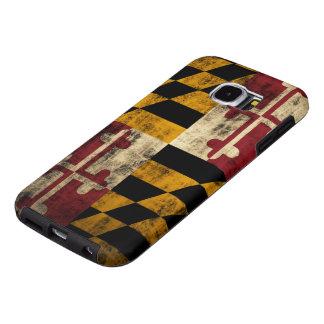Bandera del Grunge del vintage de Maryland Fundas Samsung Galaxy S6