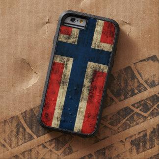 Bandera del Grunge del vintage de Noruega Funda De iPhone 6 Tough Xtreme
