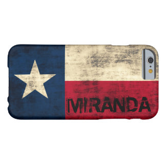 Bandera del Grunge del vintage de Personalzied de Funda Para iPhone 6 Barely There