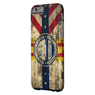 Bandera del Grunge del vintage de Tampa la Florida Funda Barely There iPhone 6