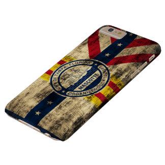 Bandera del Grunge del vintage de Tampa la Florida Funda Barely There iPhone 6 Plus