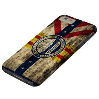 Bandera del Grunge del vintage de Tampa la Florida Funda Resistente iPhone 6 Plus