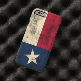 Bandera del Grunge del vintage de Tejas Funda De iPhone 6 Tough
