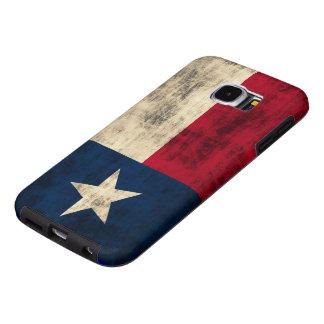 Bandera del Grunge del vintage de Tejas Fundas Samsung Galaxy S6
