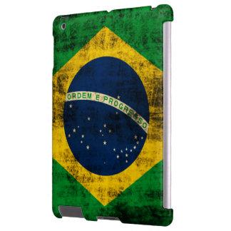 Bandera del Grunge del vintage del Brasil Funda Para iPad