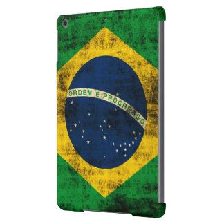 Bandera del Grunge del vintage del Brasil Funda Para iPad Air