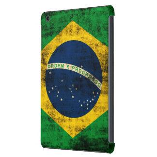 Bandera del Grunge del vintage del Brasil Fundas De iPad Mini