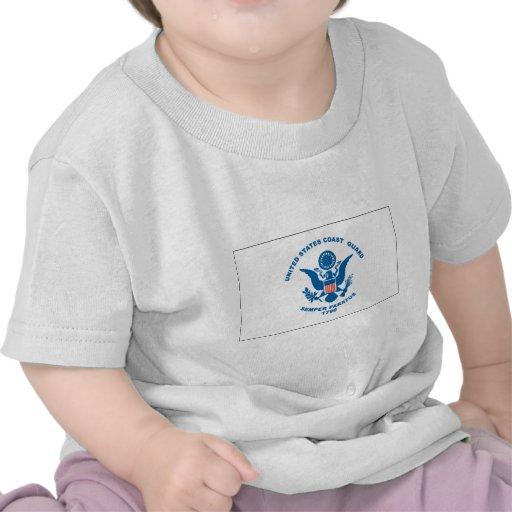 Bandera del guardacostas camisetas