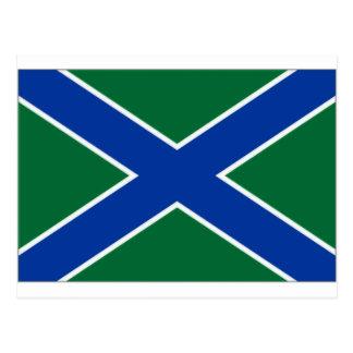 Bandera del guardia de la frontera de la postal