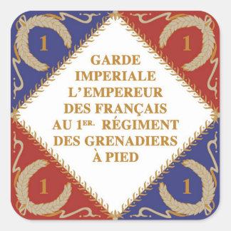 bandera del guardia imperial pegatina cuadrada