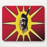 bandera del guerrero alfombrilla de raton