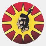 Bandera del guerrero etiquetas redondas