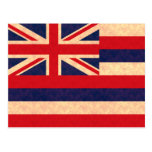 Bandera del Hawaiian del modelo del vintage Postal