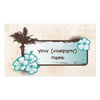 Bandera del hibisco tarjetas de visita