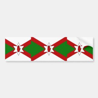 Bandera del hierro de Norn Pegatina De Parachoque
