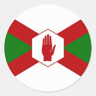 Bandera del hierro de Norn Etiqueta Redonda