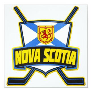 """Bandera del hockey de Nueva Escocia Invitación 5.25"""" X 5.25"""""""