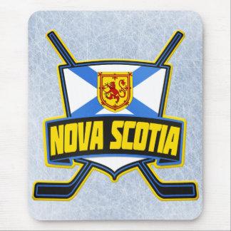 Bandera del hockey de Nueva Escocia Alfombrillas De Raton
