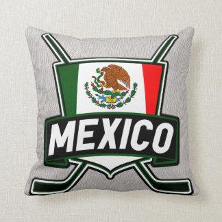 Bandera del hockey sobre hielo de México Cojin