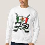 Bandera del hockey sobre hielo de México Pulóvers Sudaderas